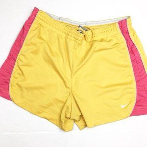Nike Athletic Running Shorts Yellow Pink SZ Medium